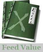 feed value excel